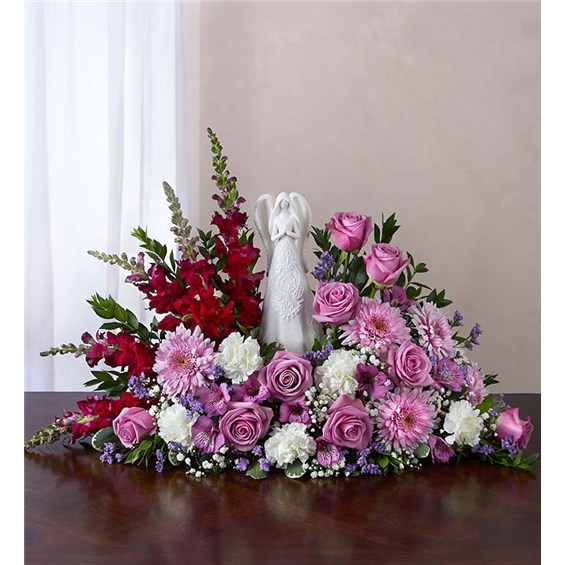 lavender-and-white-serenity-angel-flower-arrangement-funeral-flowers